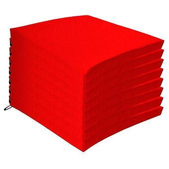 Rote 8 Pack Sitzstuhl Kissen Outdoor Garten Krawatte auf wasserdichte Pad Zip Abdeckung