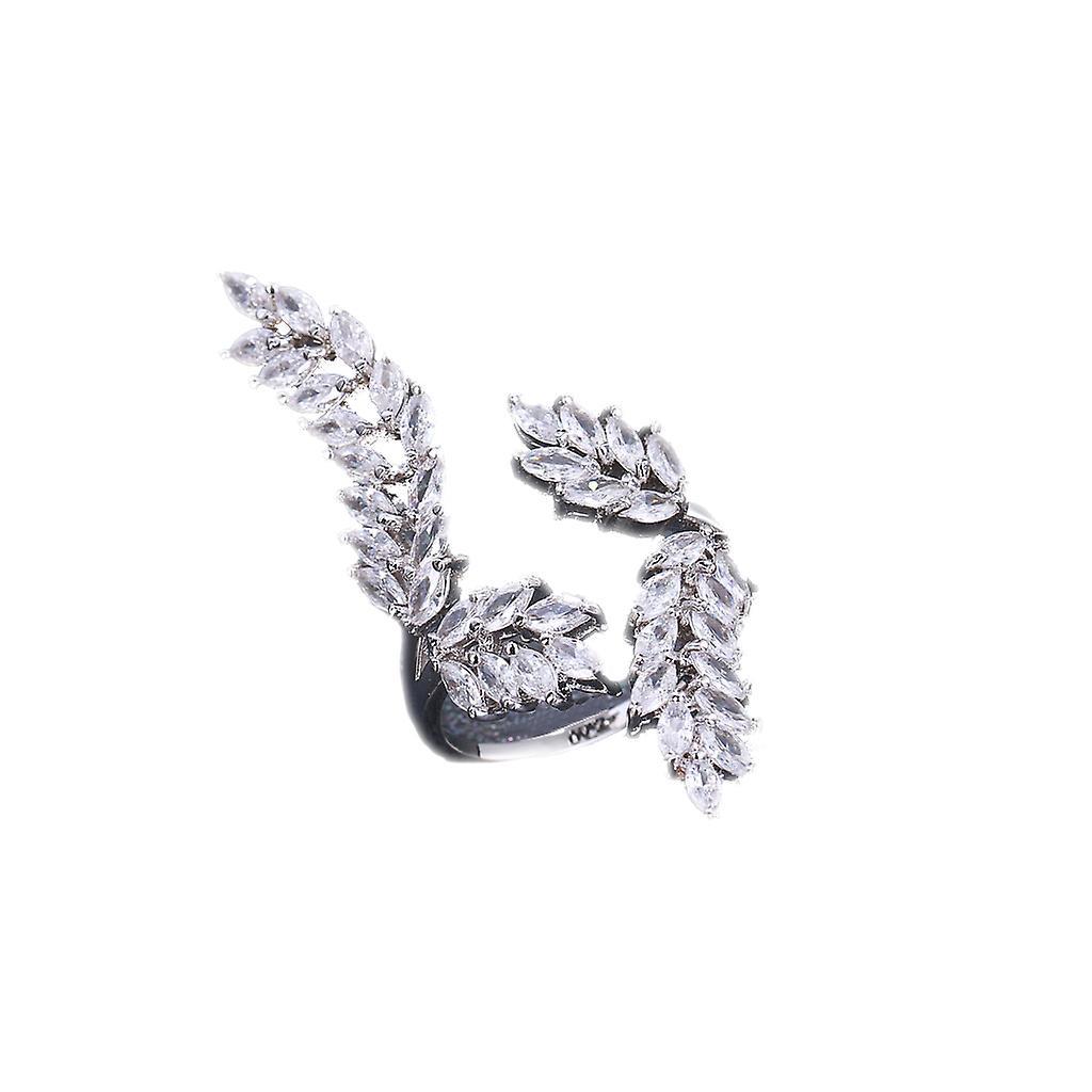 Silver Leaves Design Sterling Ring