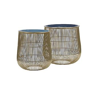 Light & Living Side Table Set Of 2 36x38 And 32x35cm Suno Blue