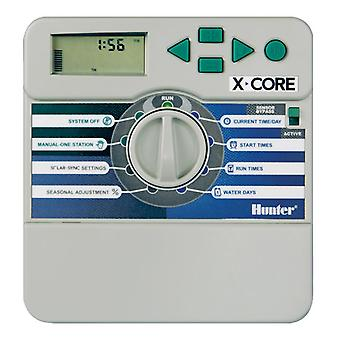 Hunter X-Core 401i 4-Station 230/240 VAC indoor controller, with plastic cabinet
