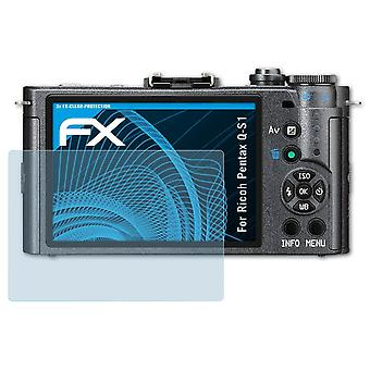 atFoliX Glass Protector compatible with Ricoh Pentax Q-S1 Glass Protective Film 9H Hybrid-Glass