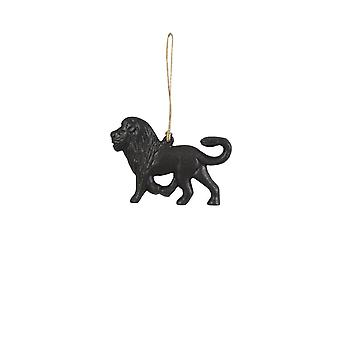Light & Living Ornament Hanging 9.5x3x12.5cm Lion Matt Black