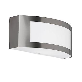 WOFI Kasan Curved Outdoor Wall Light in Stainless Steel Finish 4040.01.97.7000
