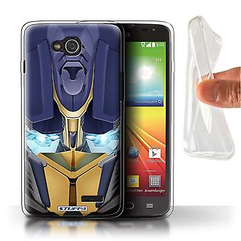 STUFF4 Gel TPU Case/Cover for LG L90/D405/Opta-Bot Yellow/Robots
