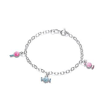 David Deyong Children's Sterling Silver Sweet & Candy Charm Bracelet