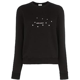 Saint Laurent 577064ybjh21081 Women's Black Cotton Sweater