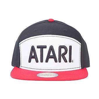 Atari Baseball Cap Retro Colorblock Logo new Official Black Snapback