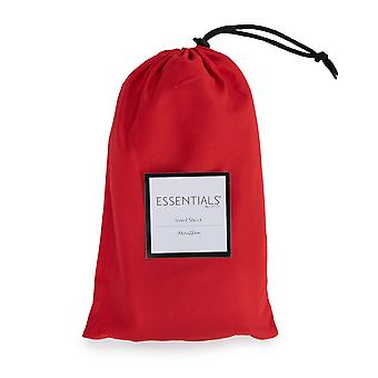 Loft 25 Essentials Sleeping Bag Liner | Camping Travel Sheet | Pillow Pocket | Hotel Business Holiday Use | Microfibre | Reusable and Lightweight (Red)