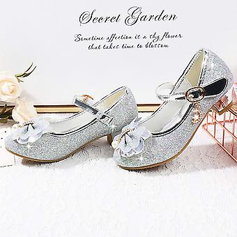 Waloka Girls Shoes Mary Jane Size 1 Sliver, 03 Sliver, Size 1 Little Kid