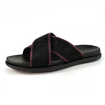 Ted Baker Mablar Textile Cross Strap Sandals Black