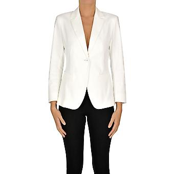 Max Mara Ezgl137037 Women's White Cotton Blazer