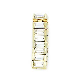 14k Yellow Gold CZ Cubic Zirconia Simulated Diamond 14 Gauge Fancy Body Jewelry Belly Ring Measures 20x6mm Jewelry Gifts