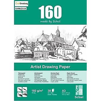 Schut Artist Drawing Paper 160 gram A3 bloc a 30 sheets