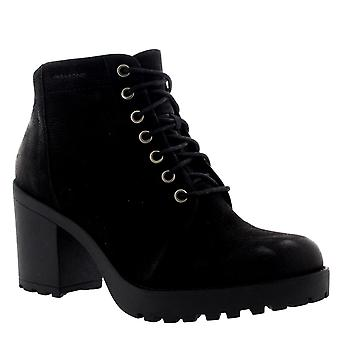 Womens Vagabond Grace Mid Heel Nubuck Black Lace Up Casual Ankle Boots