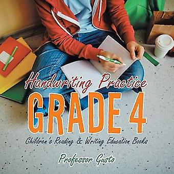 Handwriting Practice Grade 4  Childrens Reading  Writing Education Books by Gusto & Professor