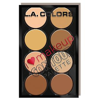 L.A. Colors I Heart Contour Palette Makeup Clear Medium