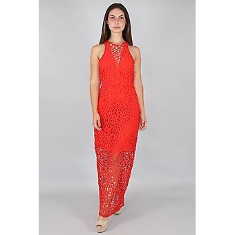 Heart contours lace all over maxi