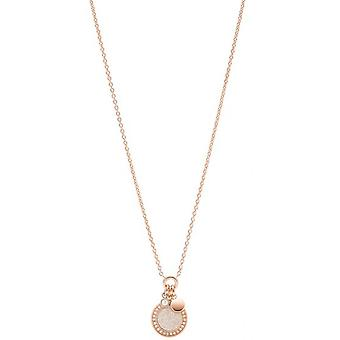 Fossil necklace and pendant JF03265791 - CLASSICS Steel Dor Rose Women