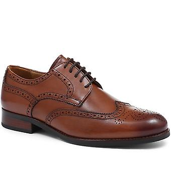 Jones Bootmaker Wide-Fit Leather Oxford Wing-Tip Brogue