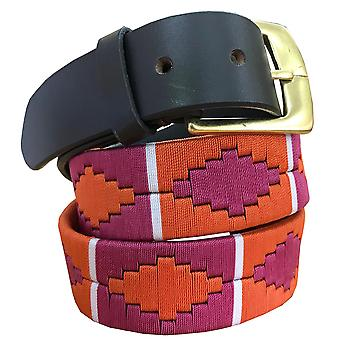 carlos diaz unisex  brown leather  polo belt cdpbhk136