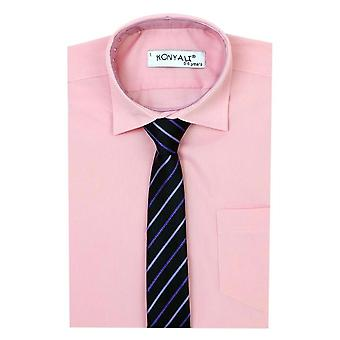 Boys Formal Pink Shirt with Tie Set