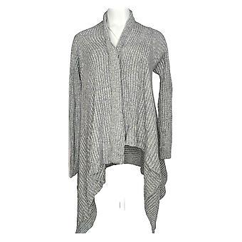 Anybody Women's Sweater Cozy Knit Hooded Cardigan Gray A349790