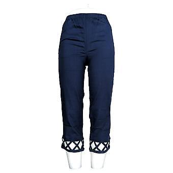 Denim & Co. Frauen's Zeitlose Pull-on Crop Hose blau A232707