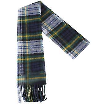 Locharron of Scotland Gordon Dress Modern Lambswool Scarf - Green/Navy/Yellow