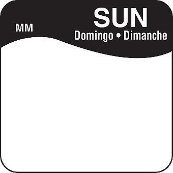 DayMark Removable Sunday Food Labels