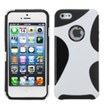 Custodia Mixy Asmyna Rubberized Cragsman per Apple iPhone 5s/5 - Bianco/Nero