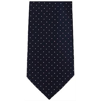 Michelsons of London Mini Spots Extra Long Polyester Tie - Navy