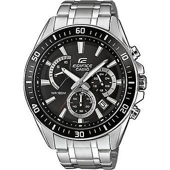 Casio Kronograf Armbandsur EFR-552D-1AVUEF (L x W x H) 53 x 47 x 12,3 mm Silverhölje material=Rostfritt material (klockarmband)=Rostfritt stål