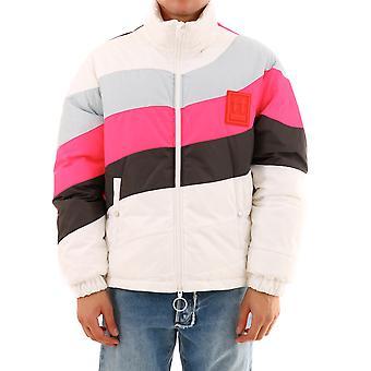 Off-white Omed016e19e060210106 Men's Veste de vêtements d'extérieur en nylon blanc