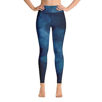 Leggings de treino | Leggings de Yoga | Aquarela | Azul Escuro