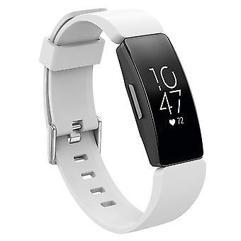 צמיד החלפת צמידים רצועה להקה עבור השראה Fitbit/השראה HR/ACE 2 [לבן, גדול]