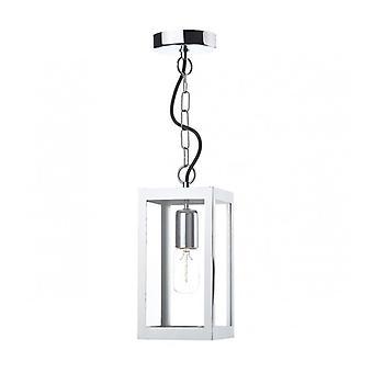 Lotus Pendant Light Stainless Steel And Beveled Glass 1 Bulb