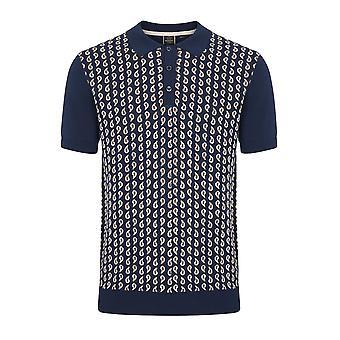 Merc hommes Paisley tricoté Polo BRUCE