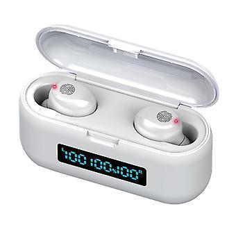 TWS Bluetooth Hörlurar, F9-38 - Vit