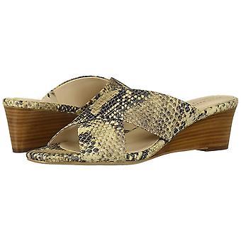 Cole Haan Women's Shoes Adley GRND WDG SDL Leather Open Toe Casual Mule Sandals