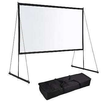 """Instahibit 150"""" Portable Detachable Projector Screen with Stand Movie Projection 16:9 HD 1.1 Gain Home Theater Camping"""