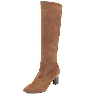 Peter Kaiser Monja-a Pull On Stretch Knee High Boots In Sable Suede
