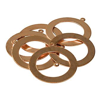 Copper Blanks Washer With Pierced Hole Pack of 6, 36mm