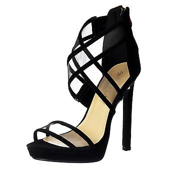Onlineshoe Strappy Cross Over High Heel Party Shoes