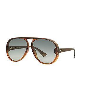 Dior Diorlia 12J/1I Braun-Orange/Grau Gradient Sonnenbrille