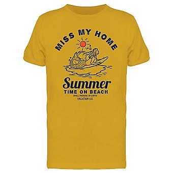Summer Time On Beach Tee Men's -Image par Shutterstock