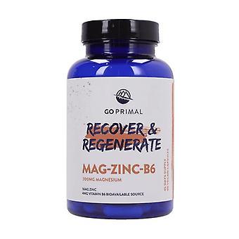 GoPrimal Magnesium -Zinc - B6 - Regenerate & Protect 90 capsules