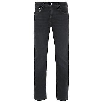 Edwin ED-55 Regular Tapered Black Ayano Wash Denim Jeans