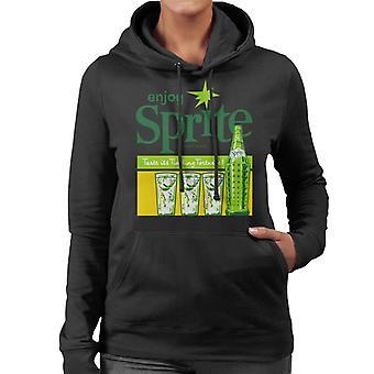 Profiter de sprite des années 1960 Vintage Soft Drink femmes Sweat à capuche