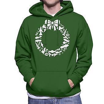Thunderbirds Icon Christmas Wreath Men's Hooded Sweatshirt