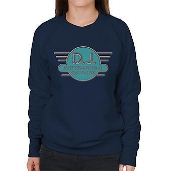 DJ International Records Cyan Logo Women's Sweatshirt